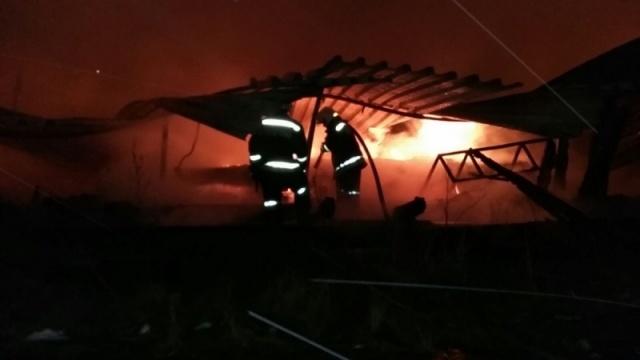 Пожар на деревообрабатывающем заводе в Екатеринбурге: Фото