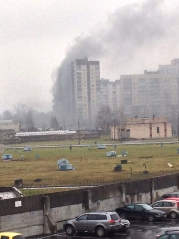 Пожар на Рыбацком проспекте: Фото