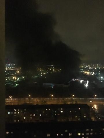 Пожар на Октябрьской наб. 15-16 ноября, фото: ГУ МЧС, соц.сети: Фото
