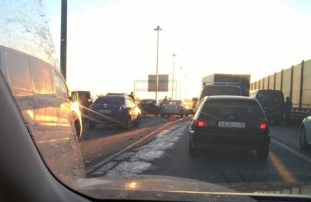 Массовая авария на КАД в районе Таллинского шоссе