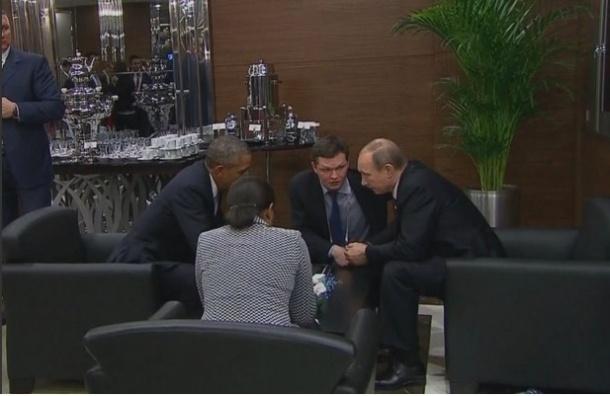 Путин и Обама говорили об Украине и Сирии