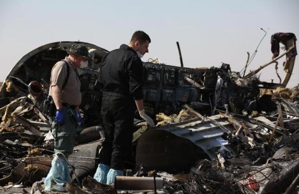 На месте крушения самолета в Египте обнаружили 12 крупных частей фюзеляжа