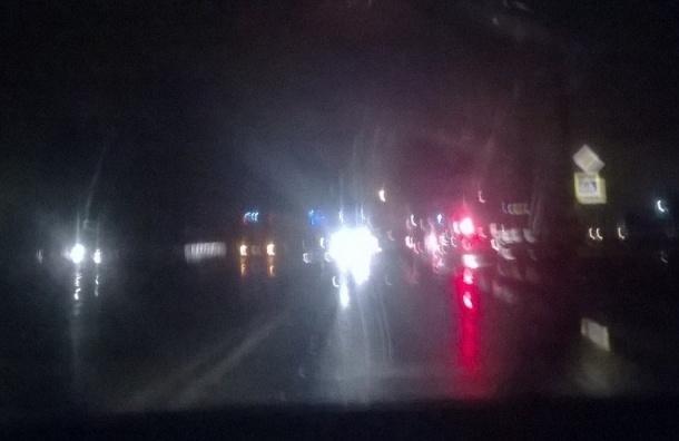 ДТП в Горелово — есть погибший, снесен столб