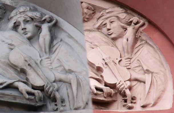 Реставраторы изуродовали нимфу с «Дома печального ангела», превратив ее в «Степную бабу»
