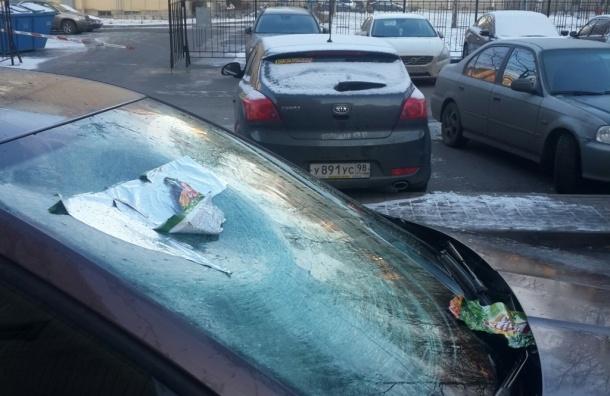 Пакет с водой разбил лобовое стекло у легковушки на Непокоренных