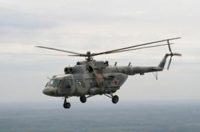 Вертолет Ми-8 совершил жесткую посадку
