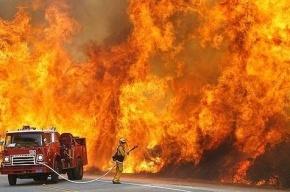 Трех человек спасли из горящей квартиры на Дыбенко