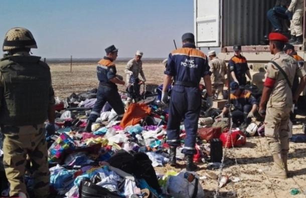 Египетские спасатели сняли все украшения с тел погибших в авиакатастрофе в Египте