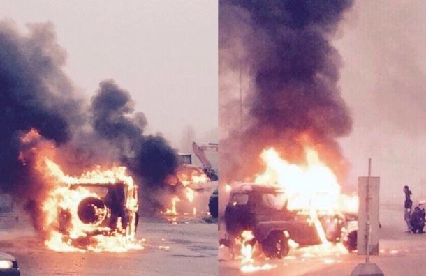 Полиция нашла автомобиль преступников, расстрелявших полицейский УАЗ