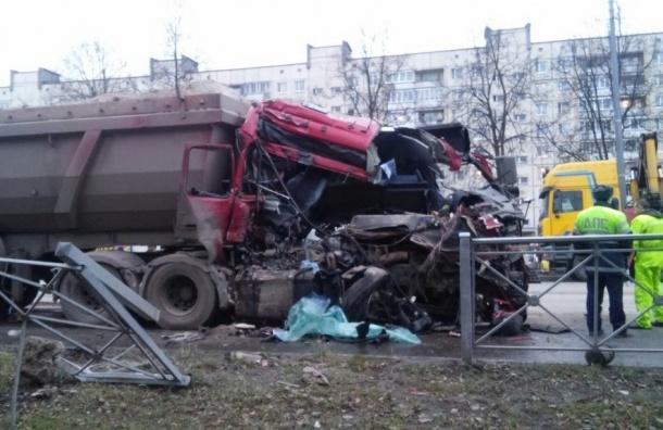 Родившийся в рубашке водитель выжил в раскуроченном грузовике в Тосно