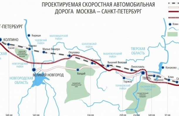Трасса «Москва—Санкт-Петербург» стала самой дорогой в Европе