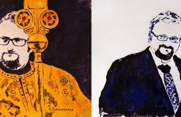 Художница из Петербурга написала портрет Милонова грудью