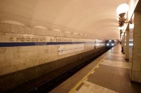 Очевидцы: человек выползал из-под поезда на станции «Проспект Просвещения»