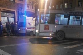 Пассажирский автобус сбил на Петроградке женщину с ребенком
