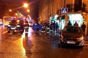 Четверо пострадали в тройном ДТП на Среднем проспекте