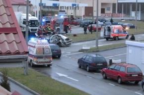 Фура с отказавшими тормозами влетела в колонну машин на русско-польской границе
