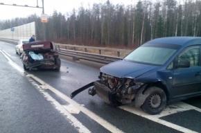 Гололед стал причиной четырех аварий под Ломоносовым