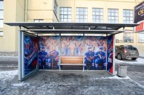 Петербуржцы могут подождать автобус на одной скамейке с хоккеистами СКА