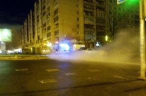 Полтысячи домов в Невском районе лишились горячей воды из-за прорыва теплотрассы