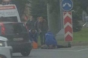 Взорвавшего сумку в руках пенсионерки на Кантемировской арестовали