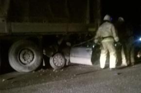Автомобиль врезался в припаркованный грузовик: погиб водитель