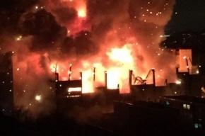 Здание завода в Москве обрушилось во время пожара