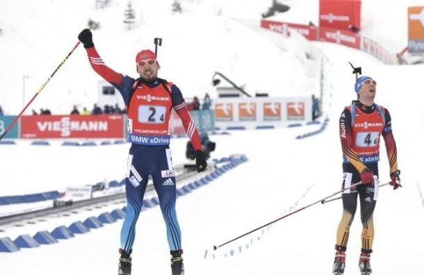 Россия выиграла мужскую эстафету на этапе Кубка мира по биатлону