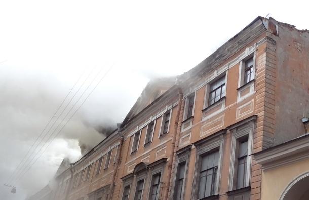 Склад в Апраксином дворе горел по высшему рангу