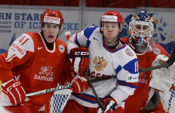 Россия победила Данию в четвертьфинале на молодежном ЧМ по хоккею