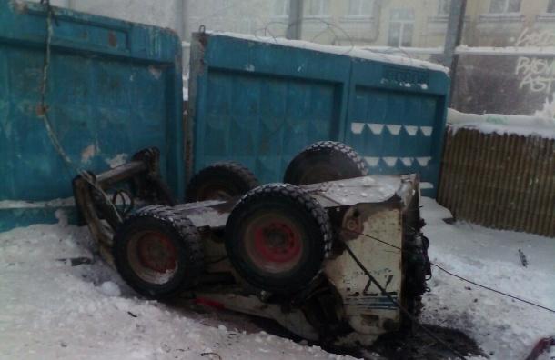 Трактор сорвался с 40-метровой высоты на ЗСД