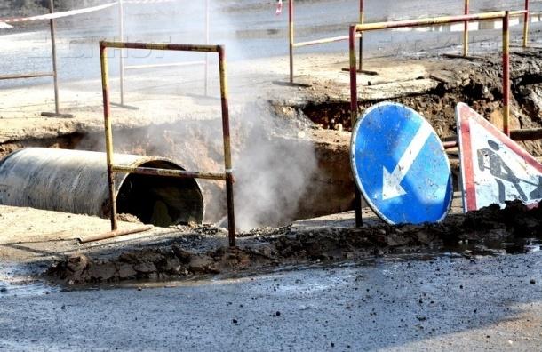 Прорыв теплотрассы произошел на канале Грибоедова
