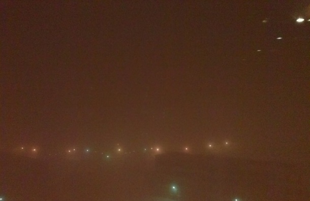Туман окутал Юг Петербурга
