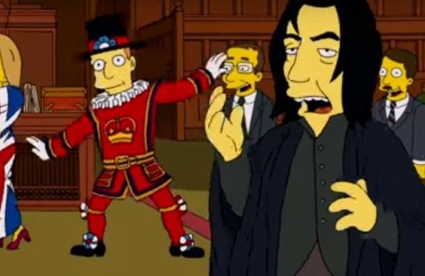 Мультсериал «Симпсоны» почтил память Алана Рикмана и Дэвида Боуи