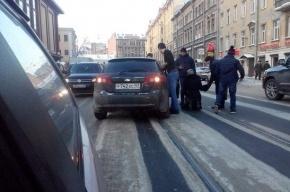 Девушка попала под машину на пешеходном переходе у станции «Звенигородская»