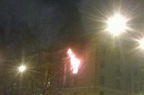 Общежитие Гидромета горело на Стахановцев