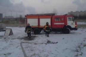 Пожар в бытовках на стройке в Купчино потушен