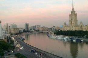 Балкон рухнул на дорогу в центре Москвы