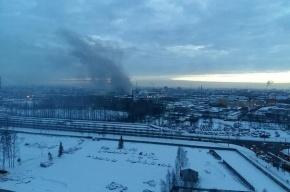 Пожар на Менделеевской удалось потушить только ночью