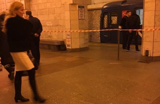Полиция перекрыла станцию «Площадь Александра Невского» из-за бесхозной сумки