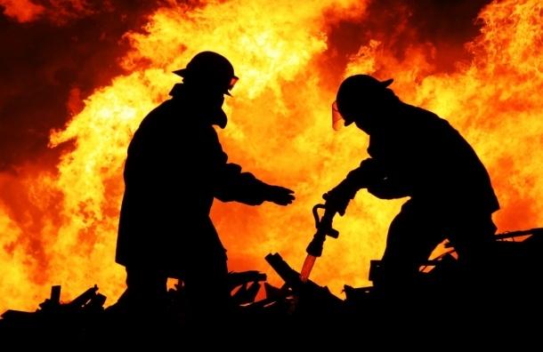 Пожарные потушили горевший склад в промзоне Невского района