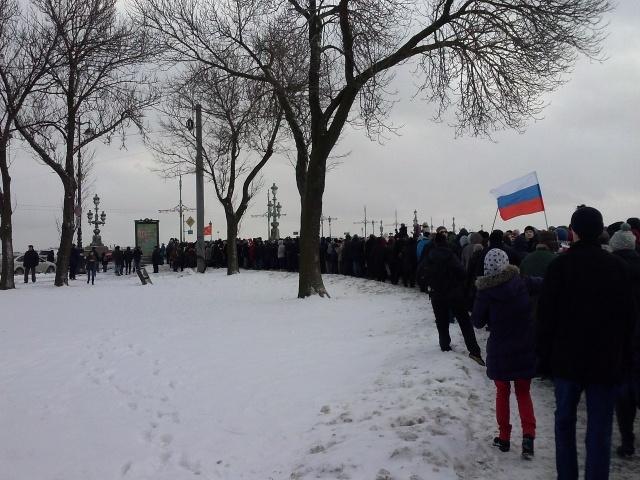 Колонна марша памяти Немцова в Петербурге, фото: MR7: Фото