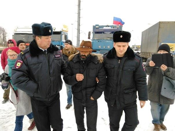 Забастовка дальнобойщиков 20.02.16, фото: Сергей Кагермазов : Фото