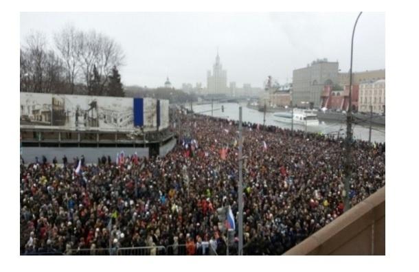 Московские власти согласовали марш памяти Немцова