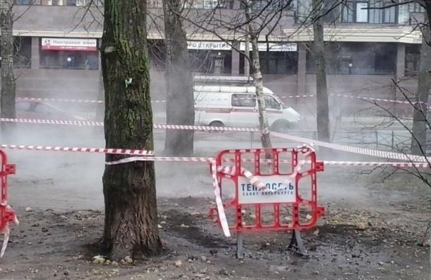 Прорыв теплотрассы на Красноармейской произошел 23 февраля