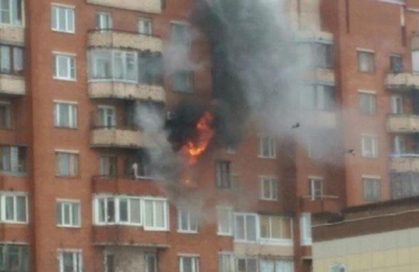 Двухкомнатная квартира сгорела в Кронштадте, эвакуировано 11 человек