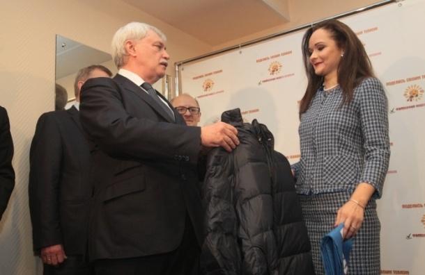Полтавченко отдал свой пуховик нуждающимся петербуржцам