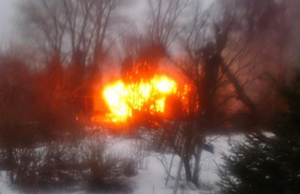 Очевидец: При пожаре в деревне Юкки погибли люди