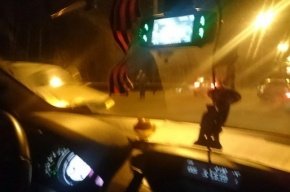 Водители сообщают о массовой аварии из десятка машин на КАД