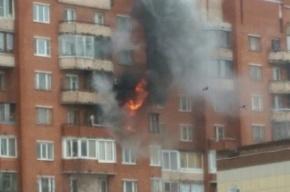 Двухкомнатная квартира сгорела в Кронштадте