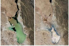 Второе по величине озеро Боливии полностью испарилось